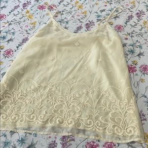 Old Navy cream color camisole top, small